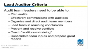 Auditing Process-Based Quality Management Systems (Part 1 of 2)