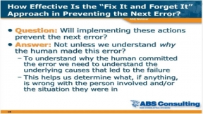 Root Cause Analysis for Beginners (Part 1 of 2)